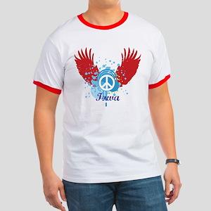 Iowa Peace Ringer T