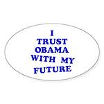 Obama Trust Oval Sticker (10 pk)