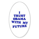 Obama Trust Oval Sticker (50 pk)