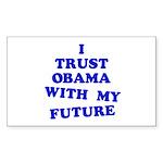 Obama Trust Rectangle Sticker