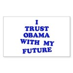 Obama Trust Rectangle Sticker 50 pk)