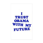Obama Trust Rectangle Sticker 10 pk)