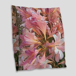 Amaryllis Belladonna Burlap Throw Pillow