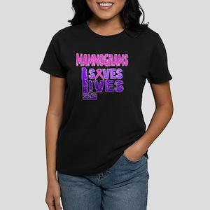 Mammograms saves lives Women's Dark T-Shirt