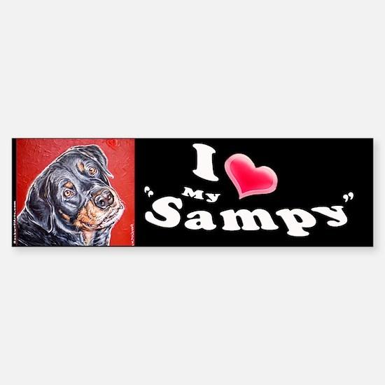 Sampy Bumper Bumper Bumper Sticker