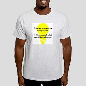 Vegan Lightbulb Ash Grey T-Shirt