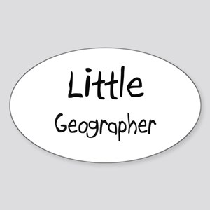 Little Geographer Oval Sticker