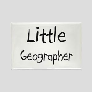 Little Geographer Rectangle Magnet