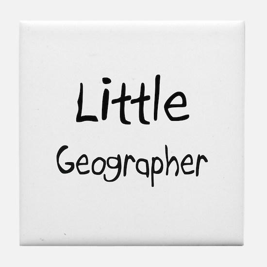Little Geographer Tile Coaster