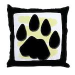 Bobcat Track Throw Pillow