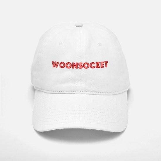 Retro Woonsocket (Red) Baseball Baseball Cap