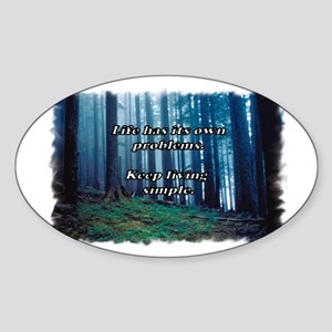Keep Living Simple Oval Sticker