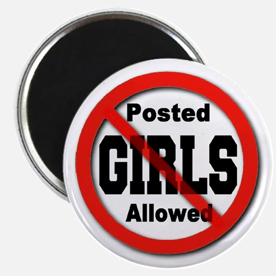 """Posted No Girls Allowed 2.25"""" Magnet (10 pack)"""