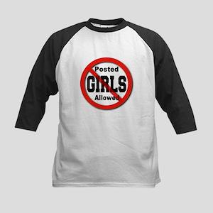 Posted No Girls Allowed Kids Baseball Jersey
