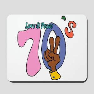 Love & Peace 70's Mousepad