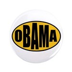 "Gold Oval Obama 3.5"" Button"