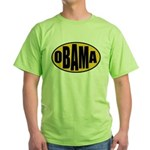 Gold Oval Obama Green T-Shirt