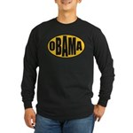 Gold Oval Obama Long Sleeve Dark T-Shirt