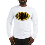 Gold Oval Obama Long Sleeve T-Shirt