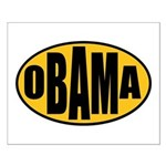 Gold Oval Obama Small Poster