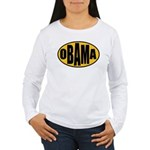Gold Oval Obama Women's Long Sleeve T-Shirt