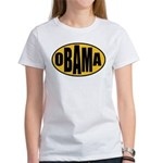 Gold Oval Obama Women's T-Shirt
