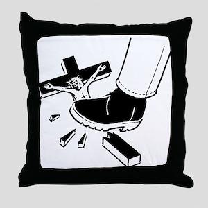Crush Christianity Throw Pillow