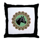 Western Colors Horse Throw Pillow
