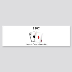 Fizzbin Champion Bumper Sticker