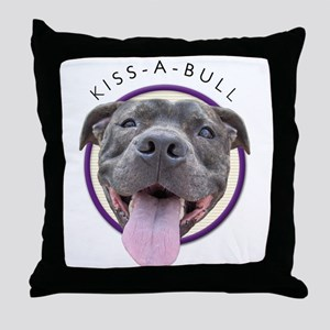 Kiss-A-Bull Throw Pillow