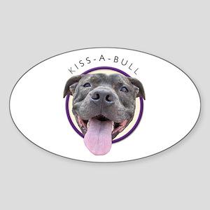 Kiss-A-Bull Oval Sticker