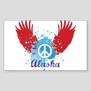 Alaska Peace Rectangle Sticker