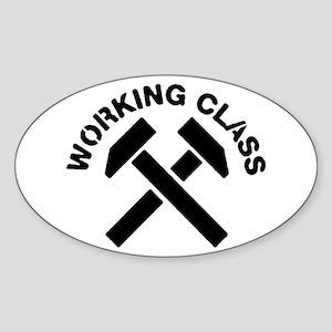 Working Class Oval Sticker