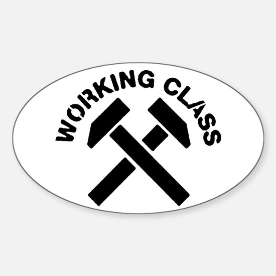 Working Class Oval Decal
