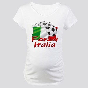 Italian Soccer Maternity T-Shirt