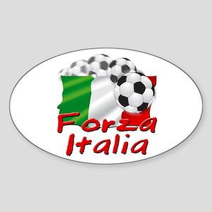 Italian Soccer Oval Sticker