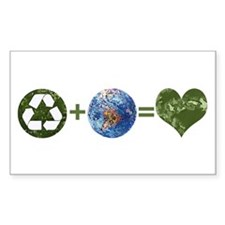 Recycle Earth Rectangle Sticker