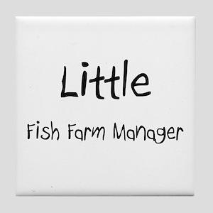 Little Fish Farm Manager Tile Coaster