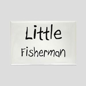 Little Fisherman Rectangle Magnet