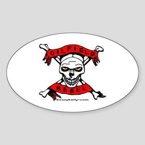 Oilfield Rebel Oval Sticker