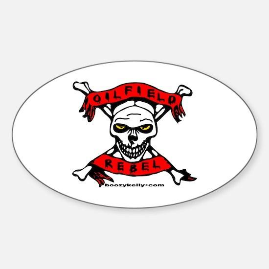 Oilfield Rebel Oval Bumper Stickers