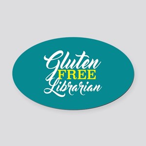 Gluten Free Librarian Oval Car Magnet