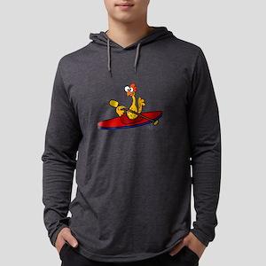 Rubber Chicken Kayaking Long Sleeve T-Shirt