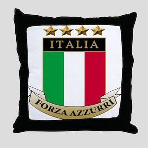 Forza azzurri Throw Pillow