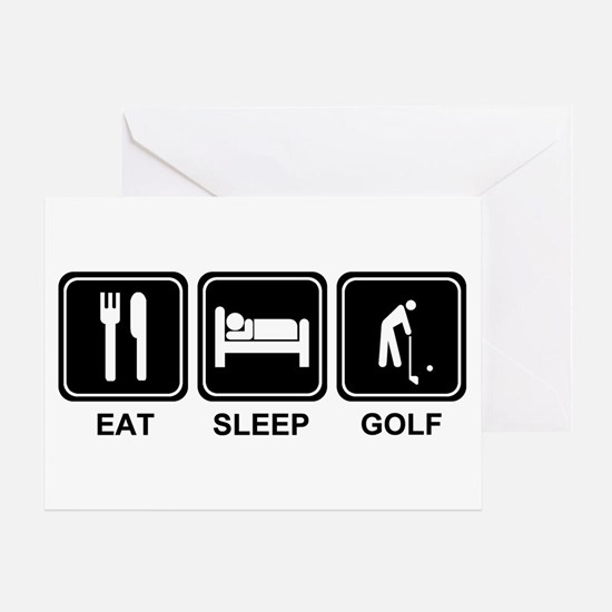 EAT SLEEP GOLF Greeting Card
