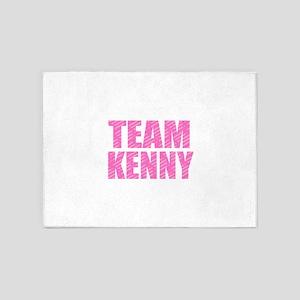 Team Kenny - Pink 5'x7'Area Rug