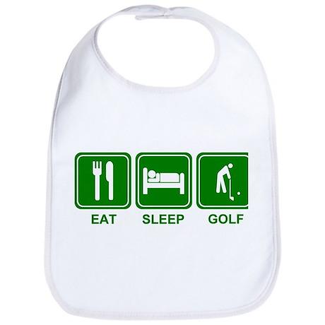 EAT SLEEP GOLF (grn) Bib