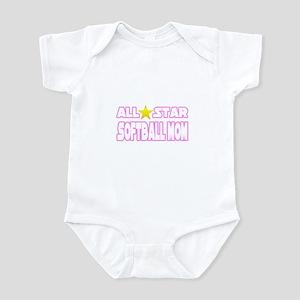 """""""All Star Softball Mom"""" Infant Bodysuit"""