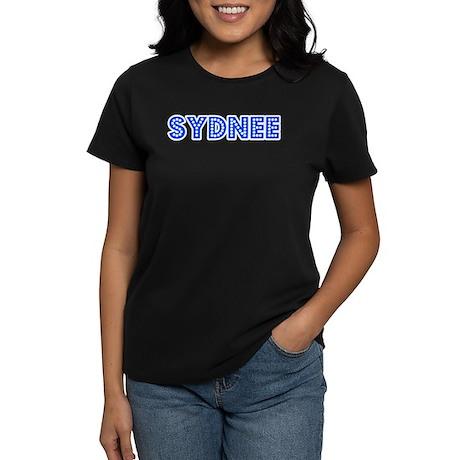 Retro Sydnee (Blue) Women's Dark T-Shirt