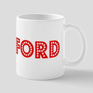 Retro Bradford (Red) Mug
